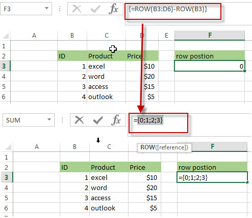 Get the Relative Row Position of all Rows in Range5