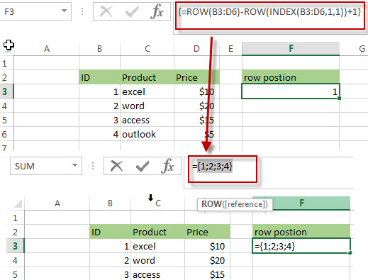 Get the Relative Row Position of all Rows in Range6