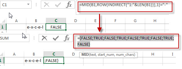 Get the position Using Excel Formula 1
