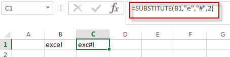 Get the position of the nth using excel formula1