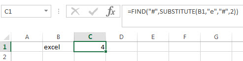 Get the position of the nth using excel formula2