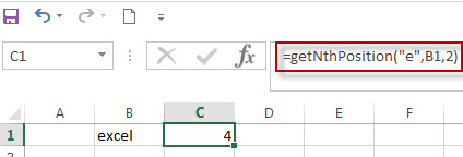 Get the position of the nth using excel vba4