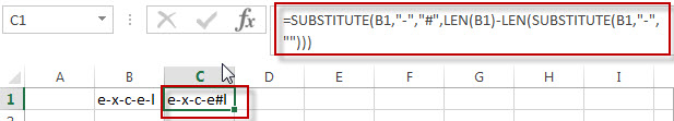 Get the position using Excel Formula8