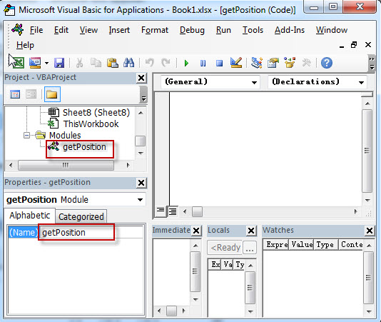 Get the position using Excel vba2Get the position using Excel vba2
