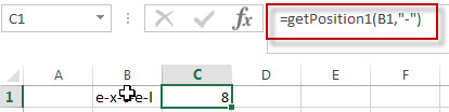 Get the position using Excel vba4