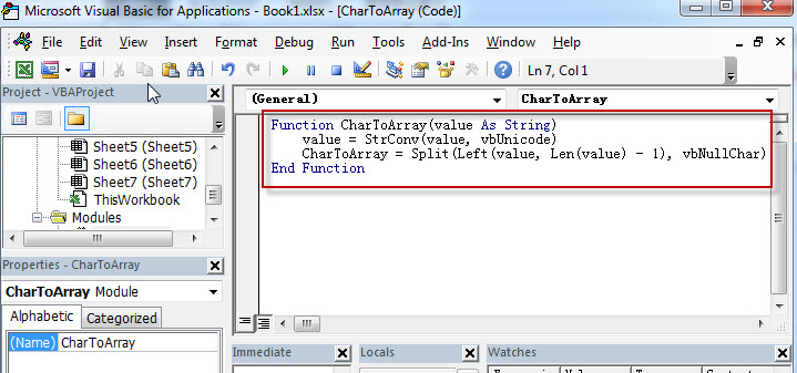 How to split text string into an Array with VBA code2