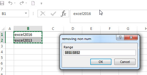 Remove non numeric characters with excel vba4