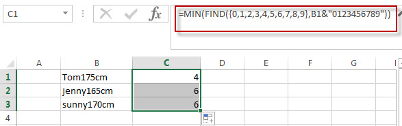 Split Text and Numbers in Excel1