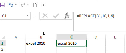 excel replace function with numeric values1