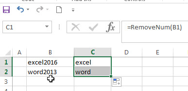 remove numeric characters from a cell3
