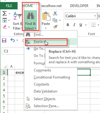 Remove text using Find Select command1
