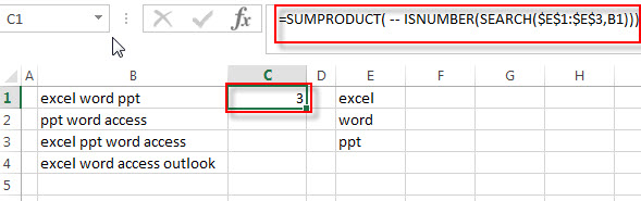 check cell contains all values1