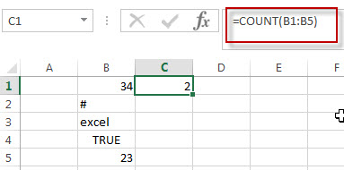 excel count function example1