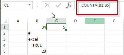 excel counta function example1