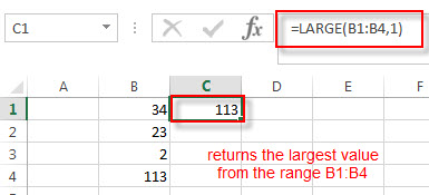 excel large function example1