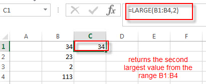 excel large function example2