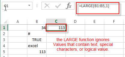 excel large function example4