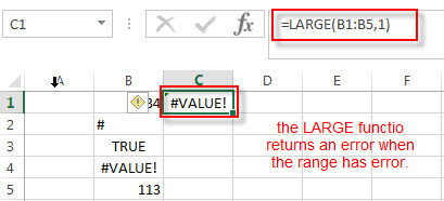 excel large function example5