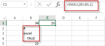 excel small function example1