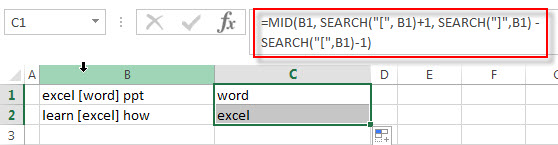 excel text between brackets1