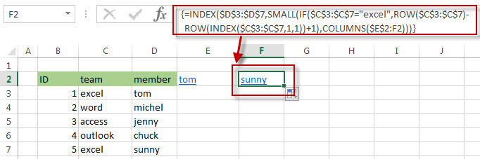 get relative of rows1