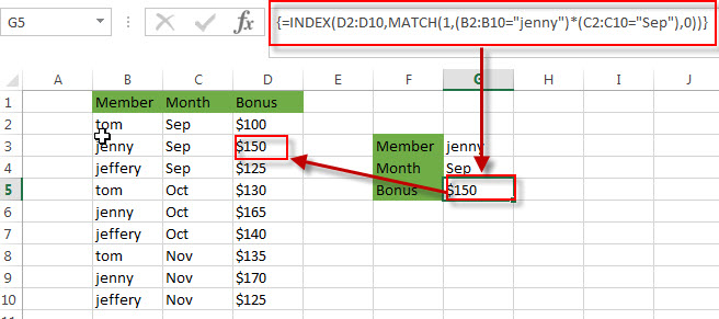 lookup value with multiple criteria2