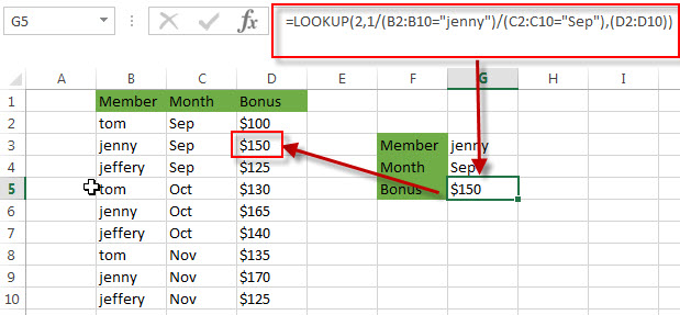 lookup value with multiple criteria3