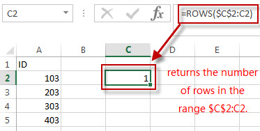 reverse a list rows function2
