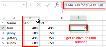 two way lookup excel