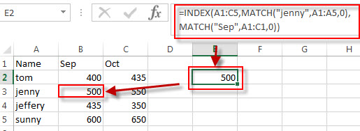 two way lookup excel3