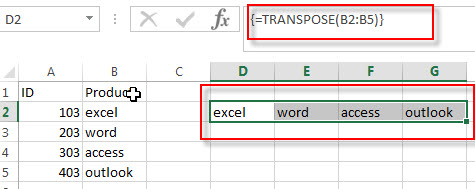 using transpose function1