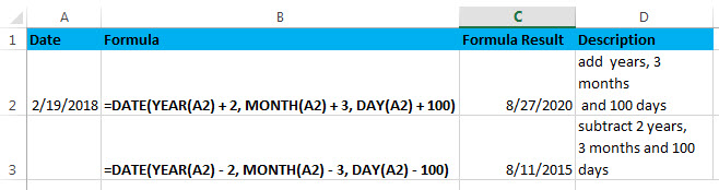 add or subtract combination day month year1