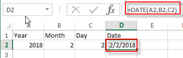 create date from 3 cells1
