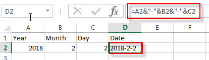 create date from 3 cells2