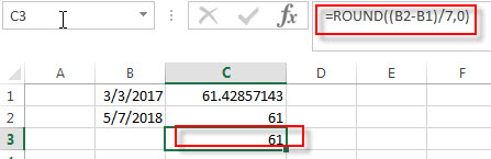 calculate days weeks months between two dates3