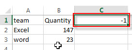 convert positive number to negative1