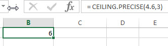 excel ceiling precise example1
