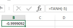 excel tanh examples1