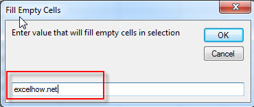 fill blank cells with specific value11