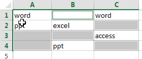 fill blank cells with specific value4