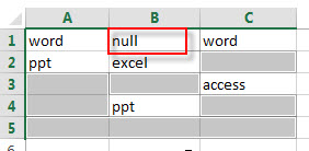 fill blank cells with specific value5