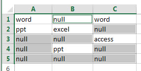 fill blank cells with specific value6