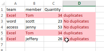 highlight duplicate values3