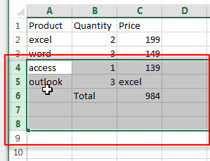 insert multiple rows or columns 1