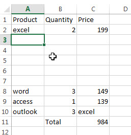 insert multiple rows or columns13
