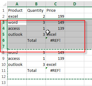 insert multiple rows or columns9