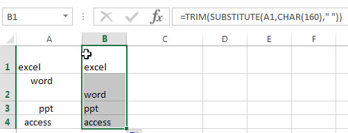 remove leading and trailing spaces2