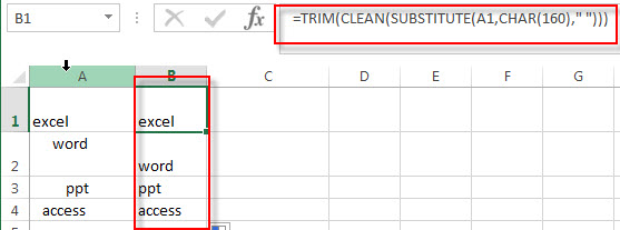 remove leading and trailing spaces3