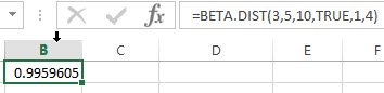 excel beta.dist example1