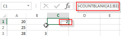 excel countblank examples1
